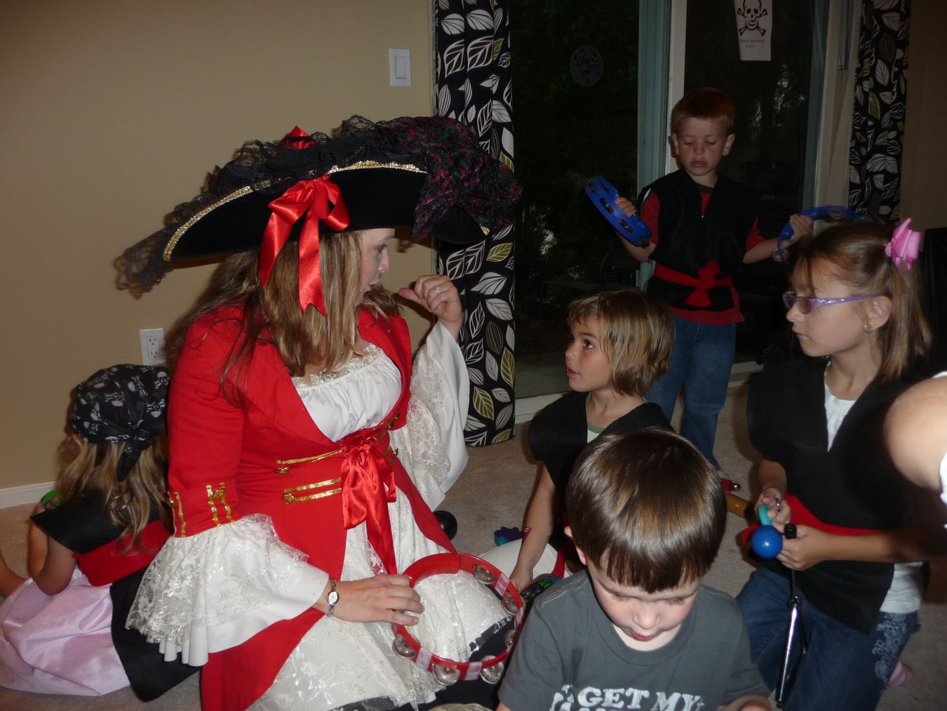 Kristin Entertaining at a Pirate Party