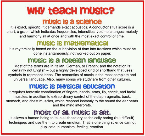 Image result for why we teach music quote