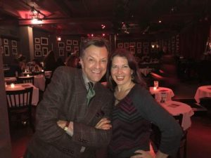 K. Springer with Jim Caruso after her performance at the BIRDLAND Nightclub in NYC.